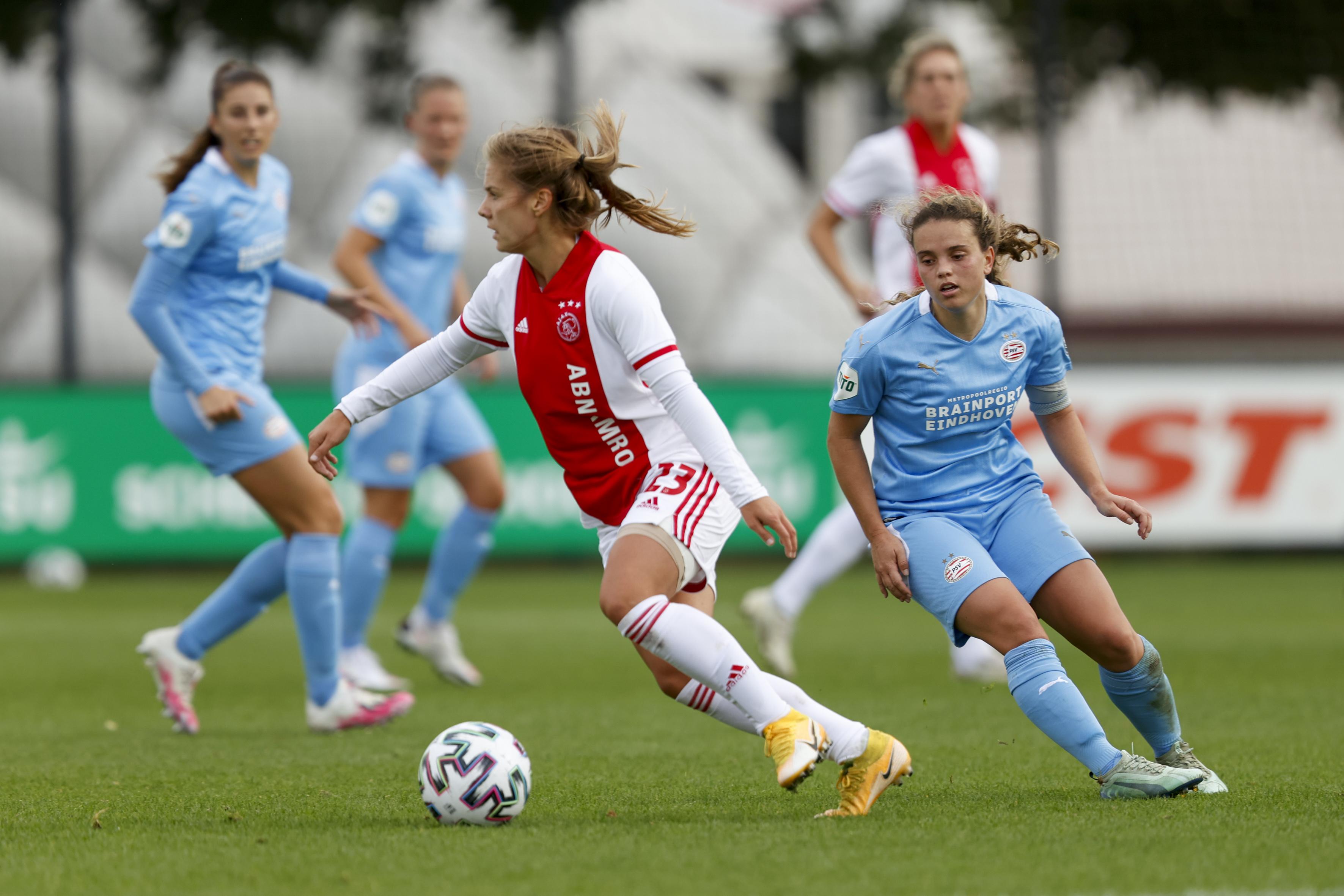 Ajax Vrouwen Winnen Topper Tegen Psv