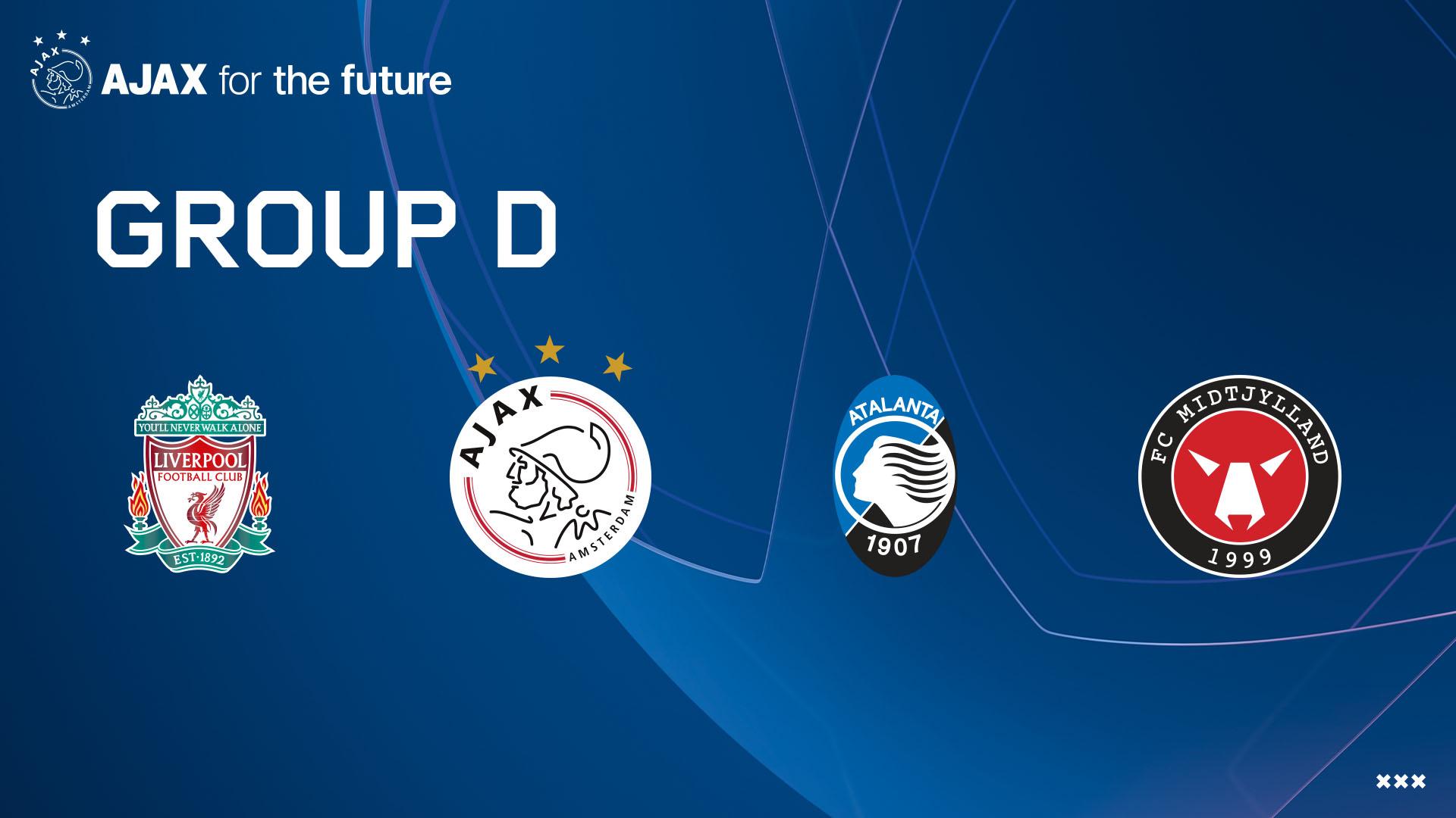 Ajax treft Liverpool, Atalanta en Midtjylland
